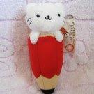 San-X Japan Nyanko Cat Pencil Plush Charm Keychain Strap 2006 Kawaii