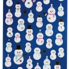 Kamio Japan Snowmen Winter Seal Sticker Sheet Kawaii