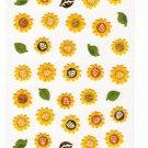 Mind Wave Japan Sunflowers Washi Paper Sticker Sheet Kawaii