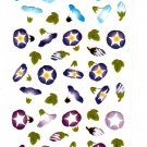 Mind Wave Japan Morning Glory Washi Paper Sticker Sheet Kawaii