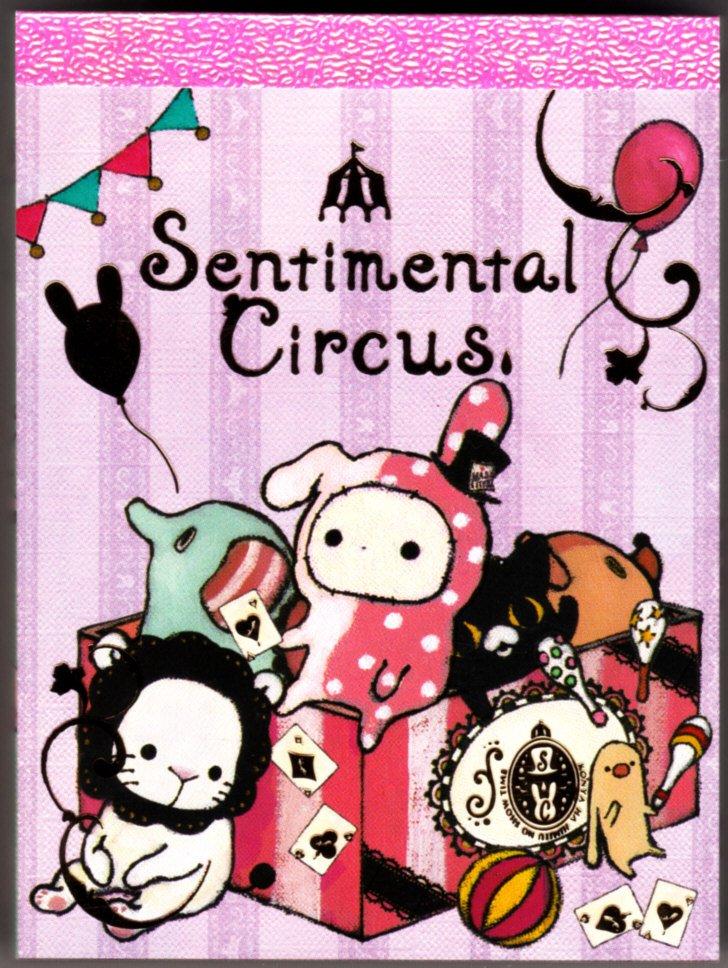 San-X Japan Sentimental Circus Mini Memo Pad (B) 2010 Kawaii