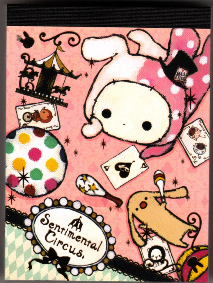 San-X Japan Sentimental Circus Mini Memo Pad (C) 2010 Kawaii