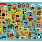 Mind Wave Japan It's My Lively World Sticker Sheet Kawaii