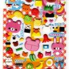 Kamio Japan Koguma Lunch Puffy Sticker Sheet Kawaii