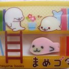 San-X Japan Mamegoma Big Block Eraser with Diecut Eraser (B) 2009 Kawaii