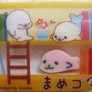 San-X Japan Mamegoma Big Block Eraser with Diecut Eraser (B) 2009 Kawaii