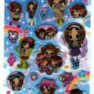 Pool Cool Japan Milky Girls Sticker Sheet Kawaii