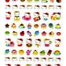 Sanrio Japan Hello Kitty Cute Model Puffy Sticker Sheet (B) 2010 Kawaii