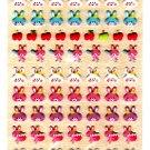 Kamio Japan Rabbit Faces Puffy Sticker Sheet Kawaii