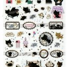 San-X Japan Kutusita Nyanko Cat Sticker Sheet (A) 2010 Kawaii