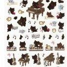 San-X Japan Kutusita Nyanko Cat Sticker Sheet (B) 2011 Kawaii
