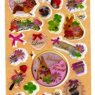 Kamio Japan Honey Forest Epoxy Sticker Sheet Kawaii