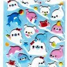 Kamio Japan Happy Seal and Friends Puffy Sticker Sheet Kawaii