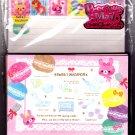 Kamio Japan Sweet Macaron Letter Set with Stickers Kawaii