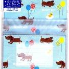 Daiso Japan Sunny Sky Transparent Envelope Letter Set Kawaii
