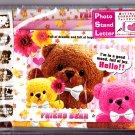 Kamio Japan Friend Bear Photo Stand Letter Set with Stickers Kawaii
