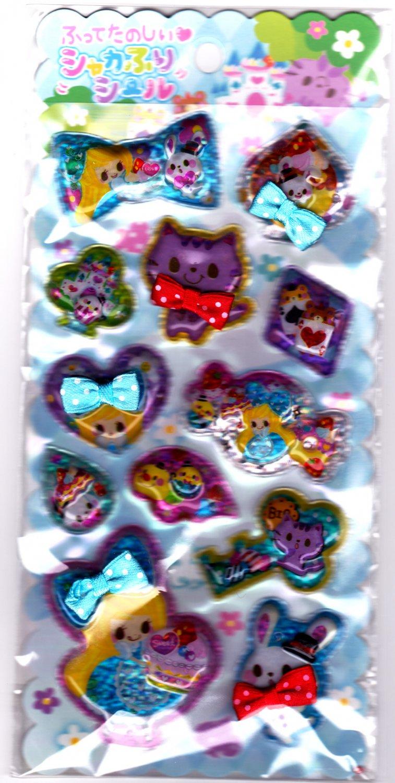 Crux Japan Love Sweet Story Beads in Bubble Sticker Sheet Kawaii