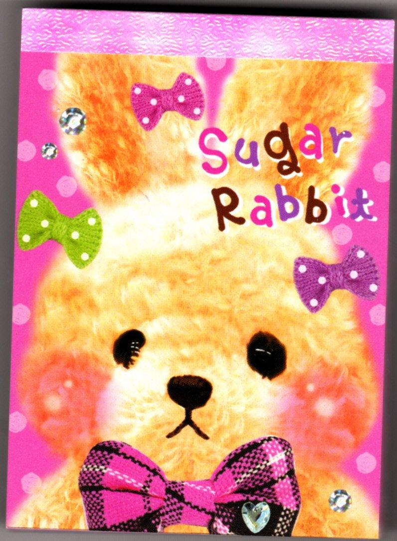 Q-Lia Japan Sugar Rabbit Mini Memo Pad (D) Kawaii