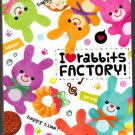 Q-Lia Japan I Love Rabbits Factory Mini Memo Pad Kawaii