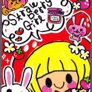 Q-Lia Japan Strawberry Girl Mini Memo Pad Kawaii