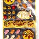 Crux Japan Takoyaki Marshmallow Puffy Sticker Sheet Kawaii