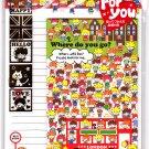 Kamio Japan Where Do You Go Letter Set with Stickers Kawaii