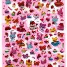 Daiso Japan Animal Sweets Epoxy Sticker Sheet Kawaii