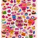 Daiso Japan Bear Sweets Epoxy Sticker Sheet Kawaii