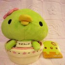 San-X Japan Sabokappa in Flower Pot Plush 2008 Kawaii