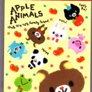 Pool Cool Japan Apple Animals Mini Memo Pad Kawaii