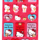 Sanrio Japan Hello Kitty and Teddy Felt Sticker Sheet 2003 Kawaii