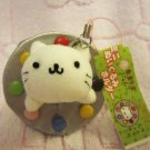 San-X Japan Nyanko Cat Candy Mascot Plush Charm Keychain Strap 2004 Kawaii