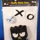 Sanrio Japan Badtz Maru Fluffy Stick-Ons 2005 Kawaii