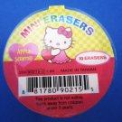 Sanrio Japan Hello Kitty Mini Diecut Erasers in Cup (Apple) 2007 Kawaii