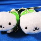 San-X + Green Camel Japan Nyanko Cat Hot Spring Slippers Mascot Plush Charm Keychain Strap Kawaii