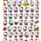 Sanrio Japan Hello Kitty Cute Model Sticker Sheet 2010 Kawaii