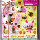 Kamio Japan Cafe Cafe Letter Set with Full Sheet of Stickers Kawaii