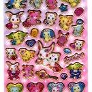 Sanrio Japan Sega Toys Jewel Pet Glitter Puffy Sticker Sheet (B) 2011 Kawaii