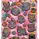 Sanrio Japan Sega Toys Jewel Pet Hard Gel Sticker Sheet 2011 Kawaii