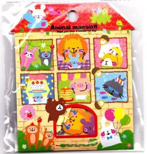 Kamio Japan Animal Mansion Sticker Sack Kawaii