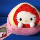 Sanrio Japan Hello Kitty Strawberry Mochi Plush with Ball Chain 2007 Kawaii