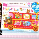 Kamio Japan Happy Bus Tour Letter Set with Stickers Kawaii