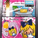 Kamio Japan Sweetie World Letter Set with Stickers (C) Kawaii