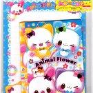 Daiso Japan Animal Flower Letter Set Kawaii