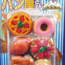 Iwako Japan Pastries Diecut Erasers Set of 6 with Tray Kawaii