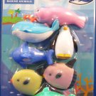 Iwako Japan Marine Animals Erasers Set of 6 Kawaii