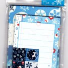San-X Japan Winter Snow Mini Letter Set with Stickers 2003 Kawaii