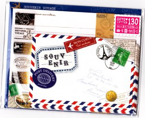 Mind Wave Japan Souvenir Voyage Letter Set with Stickers Kawaii