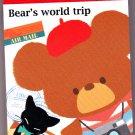 Kamio Japan Bear's World Trip Mini Memo Pad Kawaii