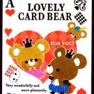 Crux Japan Lovely Card Bear Mini Memo Pad Kawaii
